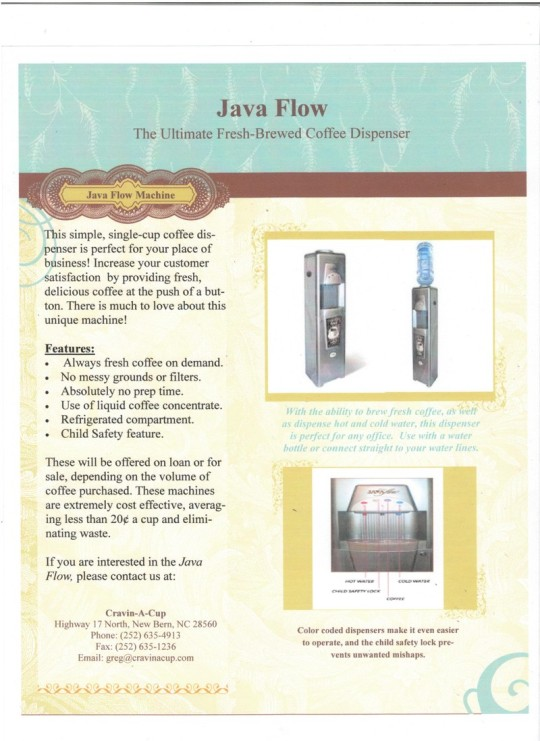 Introducing Java Flow Single Cup Coffee Dispenser
